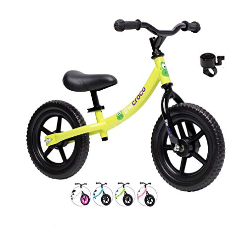 TheCroco Lightweight Balance Bike for Kids Ages 1, 2, 3, 4, 5 Years Old, Toddler Bike, No Pedal Bicycle, Multiple Models…