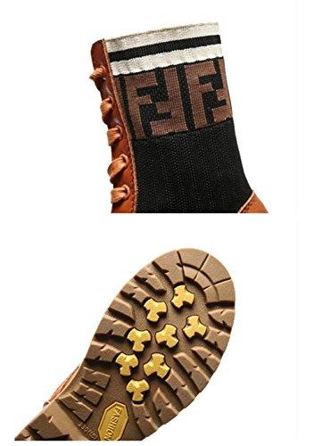 Damen Neue Kampf Flache Stiefeletten Kreuz Reißverschluss Martin Boden Stiefel Winter Stiefel Martin Stiefel Mode Frauen Britischen Herbst Dicke Gebunden Vintage CqxtqFnU