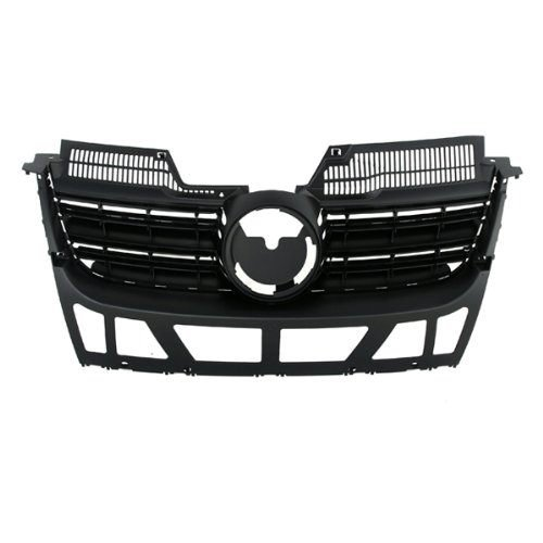 - CarPartsDepot, Front Black Plastic Grill Grille w/o Chrome Molding Assembly Paintable, 400-451023?VW1200139 1K5853653C9B9