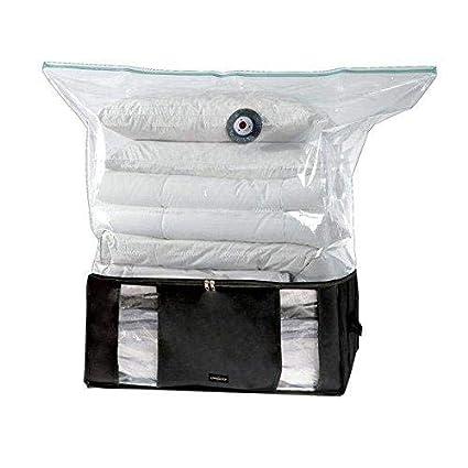COMPACTOR Caja de Almacenaje Al Vacío, Talla XXL, 210 l, Negro