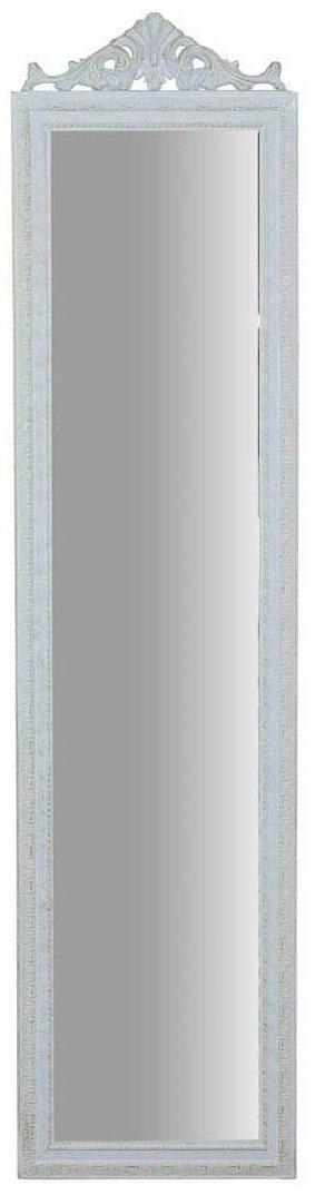 Specchio Specchiera da terra in legno 43x3x178 cm finitura bianco anticato. Ideale per la camera da letto Biscottini