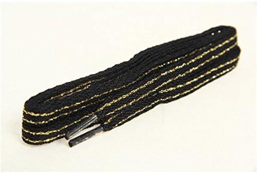 イズフィット(イズフィット) シューレース ライン 黒/ゴールド 120cm (Men's、Lady's、Jr)