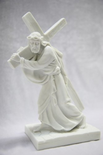 """9"""" Jesus Christ Carrying the Cross Catholic Statue Religious Figurine Vittoria Collection Made in Italy"""