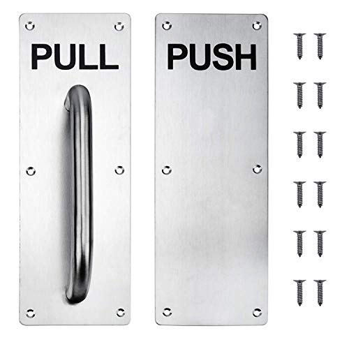 (Stainess Steel Door Handle Pull and Push Plate Include Screws)