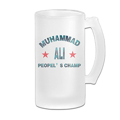 Peopel's Champ Great Extra Large Frosted Glass Beer Mug, Personalized Beer Stein, Tea / Coffee Cups - 17 Ounce / 500ML