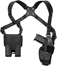 """Revolvers by Frame L Frame 9.5"""" (Up to 6 Rounds) Compatible Holster - Nylon Roto Shoulder Holster - Craft"""
