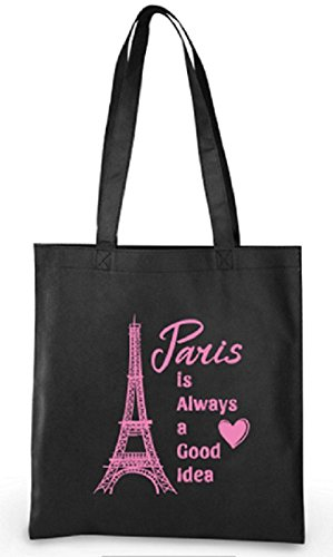 (Paris Party Favors Eiffel Tower Theme Tote Bags for Girls Birthday 6)