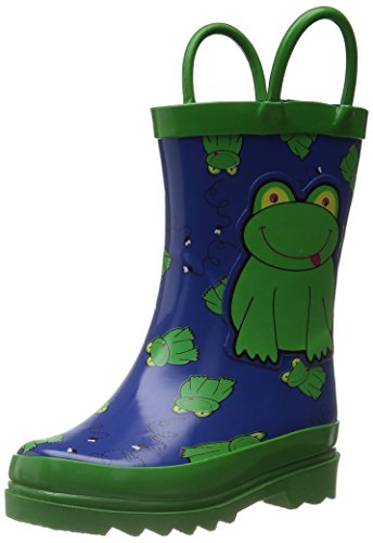 Little Boy's Green Frog Rain Boots Sizes Toddler/Little kids