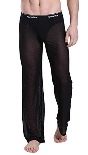 Mendove Mens Mesh See Through Home Lounge Pants Nightwear Size XX-Large ()