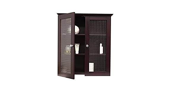 Amazon.com: Metro Shop Windham Wall Cabinet with Two Glass Doors ...