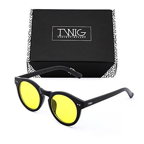 espejo sol TWIG FRIDA de Amarillo Negro Gafas mujer degradadas PqZI5PF