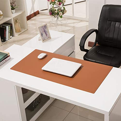 39x24inch F-LFJBK Extended Desk Mouse Pad Waterproof Writing Mat,Leather Anti-Slip Mousepad Gaming Laptop Mat Desk Blotter Protector for Office Home-Green 100x60cm