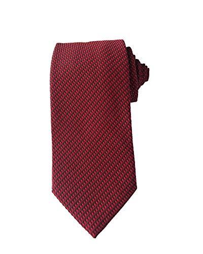 TOM FORD Mens Diagonal Striped Textured Silk Tie, Red Black