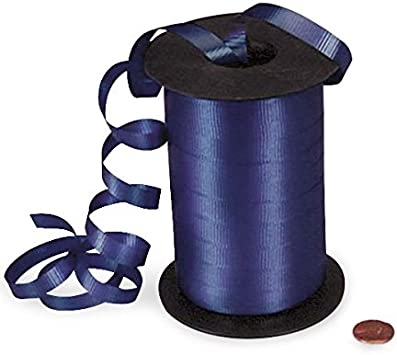 """*500YDS* 3//16/"""" NAVY BLUE Crimped Poly Curling Ribbon"""