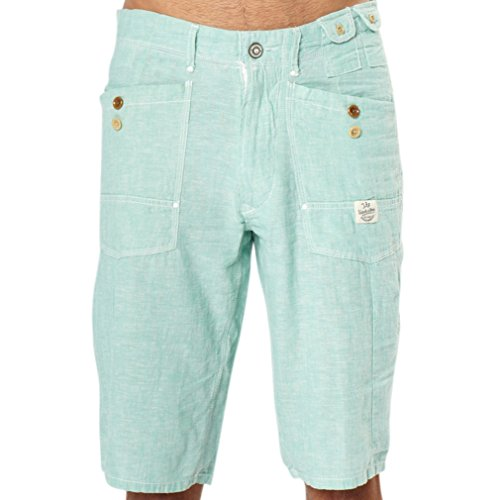 (TFG Mens Shorts Casual with Multi-Utility Pockets (36, Mint))