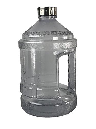 Leocoh One Gallon Water Bottle (Black) (Recyclable Water Jug)
