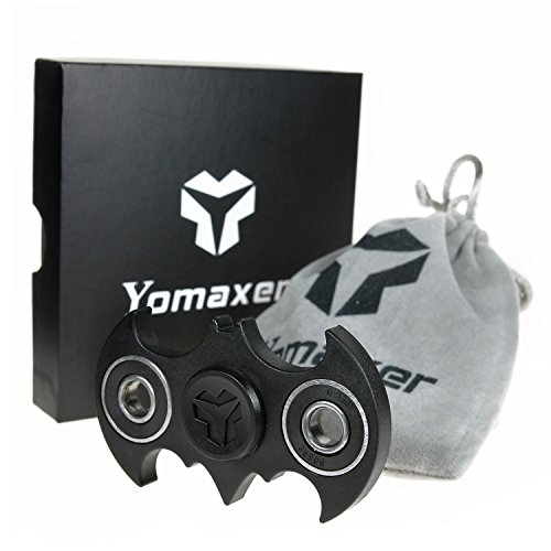 Yomaxer Fidget Spinner Bat Shape Hand Spinner R188 Main Bearing Cool EDC Focus Toy