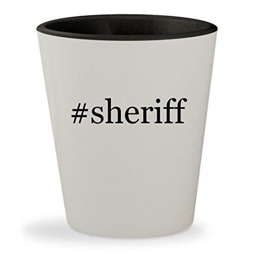 Price comparison product image #sheriff - Hashtag White Outer & Black Inner Ceramic 1.5oz Shot Glass