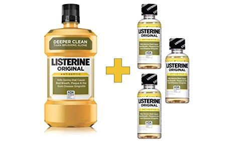 Bonus Listerine Antiseptic Mouthwash, Original Flavor 1.74 Liter
