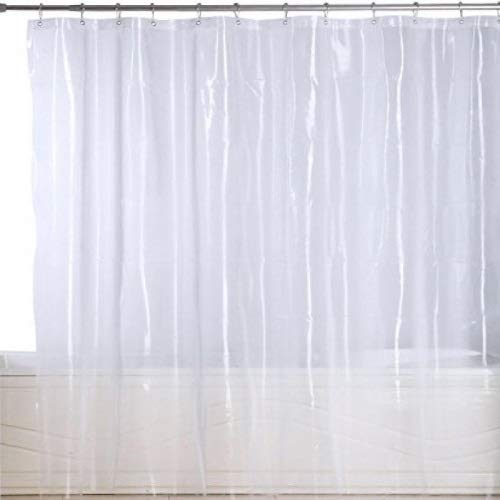 Extra Heavy Gauge Mildew Resistant Shower Curtain Anti-bacterial Heavy-Duty Waterproof Liner - 72x78 Inch (Super Clear)