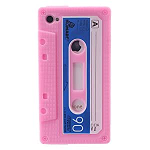 GJY Tape Shaped Silicone Case for iPhone 4/4S (Rose)