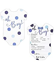 Baby Shower Predictions and Advice Cards, (5 x 7 In, 50-Pack)
