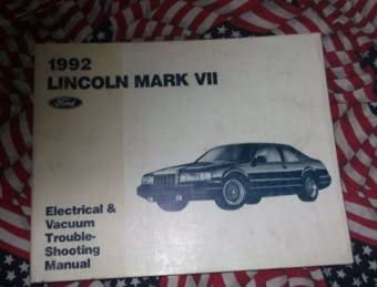 1992 lincoln mark vii mark viii electrical wiring diagrams service shop  manual: lincoln: amazon com: books