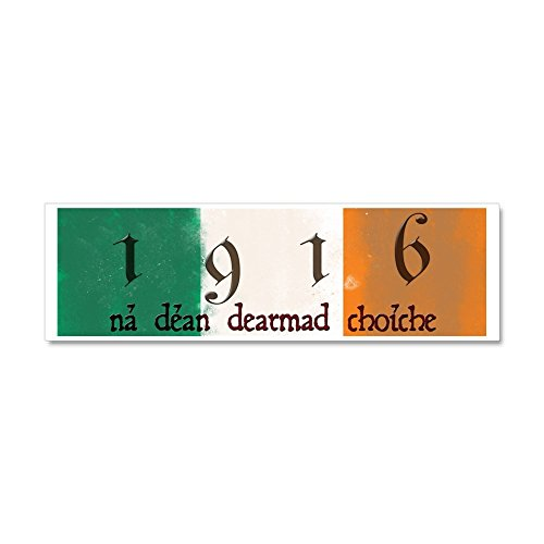 CafePress - Ireland Flag 1916 Easter Rising Car Magnet 10 x 3 - Car Magnet 10 x 3, Magnetic Bumper Sticker ()