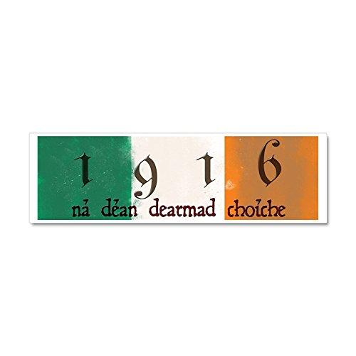 CafePress - Ireland Flag 1916 Easter Rising Car Magnet 10 x 3 - Car Magnet 10 x 3, Magnetic Bumper Sticker
