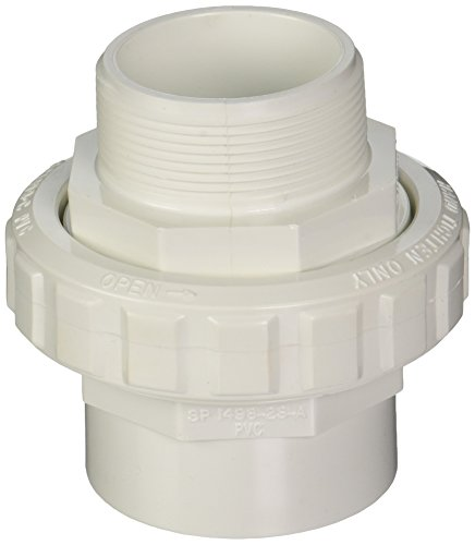 Hayward SP14983S 2-Inch MIP by 2-Inch Socket White PVC Flush Male/Female Socket Union (2in Male Threaded Connectors)