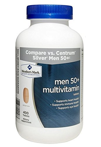 Member's Mark Men 50+ Multivitamin Tablets (1 bottle (400 tablets)) by Sam's - The 400 West Mall