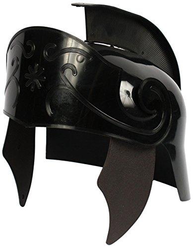 Alexanders Costumes Men's Deluxe Roman Helmet, Black, One -