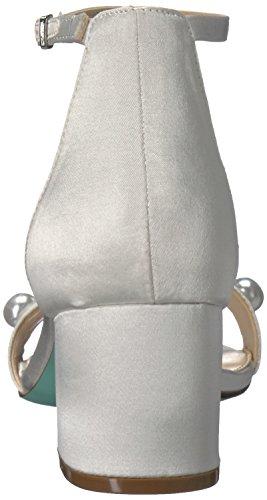 Blue by Betsey Johnson Women's Sb-Jaden Dress Sandal Ivory Satin under $60 online v4HKkTggYR