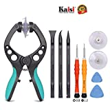 Kaisi LCD Screen Opening Tools Suction Cup Pliers Repair Tools Kit of Opening Touch Screen and Shell Compatible for Cell Phone, iPhone, Samsung, iPad, iPod, iMac, Tablets, Laptops and More, 9 Piece