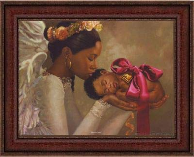 The Art Depot Heaven Sent (Girl) by Henry Battle (16.5x19.5 inches - Brown Frame)