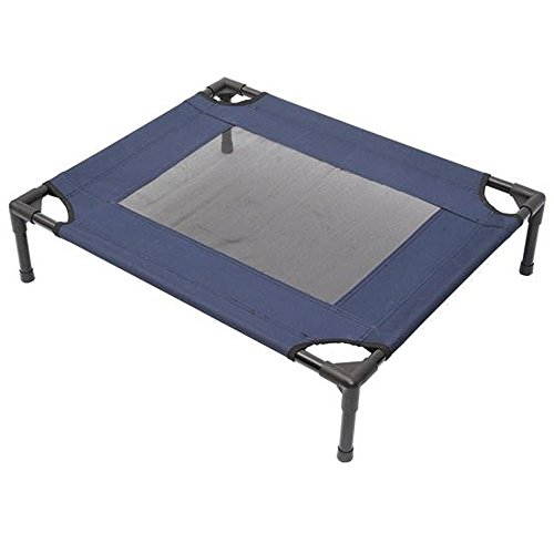 Cheap Tenive Elevated Mesh Pet Bed Pet Dog Cot Sleeping Bed,30″x 24″ (Blue x 1)