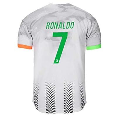 Feeke Special Version 7 Ronaldo Jersey Juventus for Mens Home Soccer Jersey Black/Grey