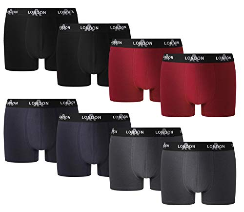 FM London Herren Fitted Boxer Hipster (8er Pack)