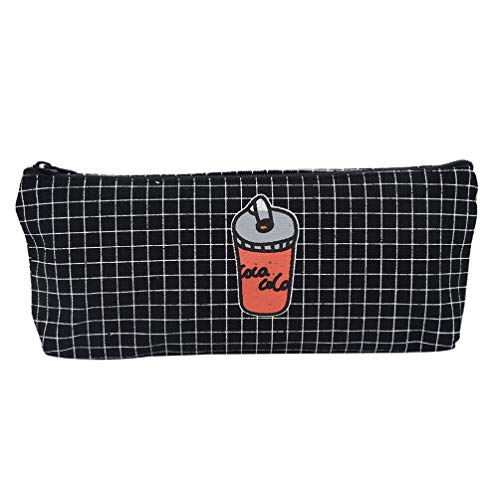 Leather Framed French Wallet - Tpingfe French Fries Cola School Pencil Case Cosmetic Makeup Storage Bag (D)