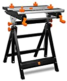 WEN 24-Inch Height Adjustable Tilting Steel Portable Work Bench and Vise with 8 Sliding Clamps WEN 24-Inch Height Adjustable Tilting Steel Portable Work Bench and Vise with 8 Sliding Clamps