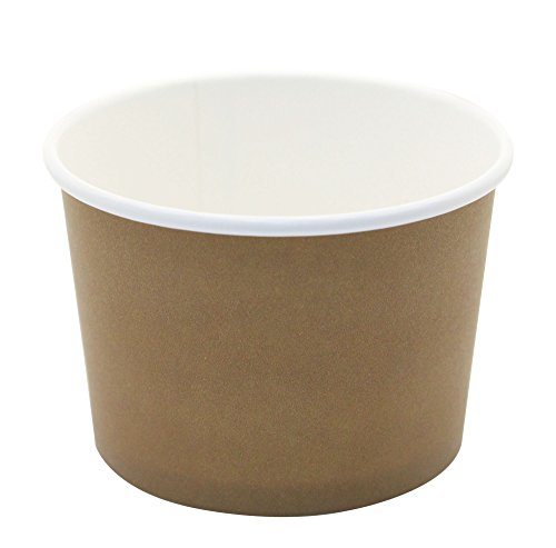 ice cream cups brown - 1