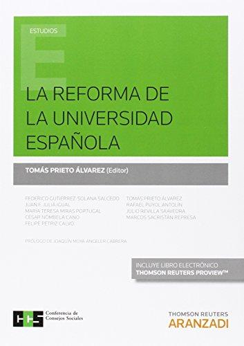 Descargar Libro Reforma De La Universidad Española,la Tomás Prieto Álvarez (ed.)