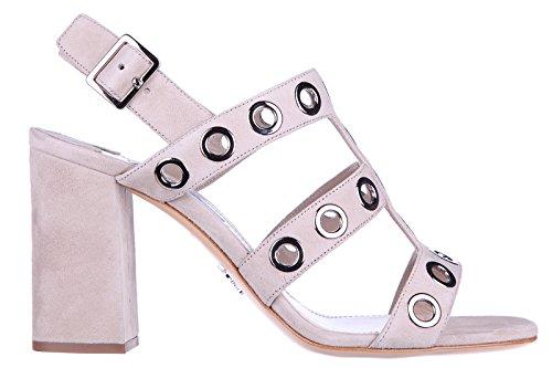 Prada Suede Heels (Prada Women's Suede Heel Sandals Beige US Size 9 1X424G 008 F0482)