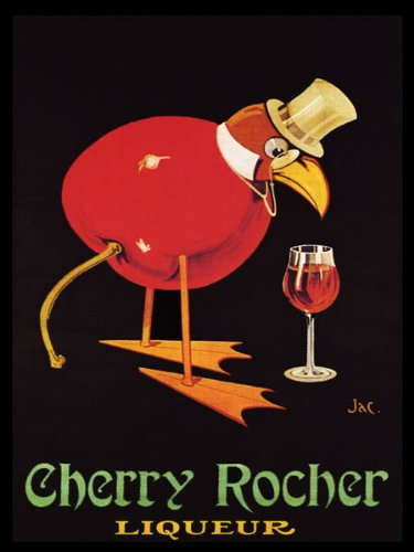 Cherry French Wine - Cherry Rocher Liquor a Distilled Alcoholic Beverage French France Wine Grapes Drink Bar Restaurant 16