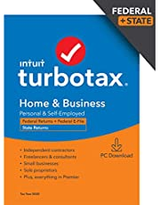 $79 » TurboTax Home & Business Desktop 2020 Tax Software, Federal and State Returns + Federal E-file [Amazon Exclusive] [PC Download]