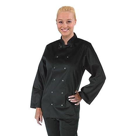 Camice da chef/cuoco, a maniche lunghe, unisex, per lavorare in cucina, XS, Black, 1 Whites Chefs Clothing 13474