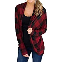Litetao 2017 Long Sleeve Lattice Printed Plaid Tops Blouse Stylish T-Shirt For Women