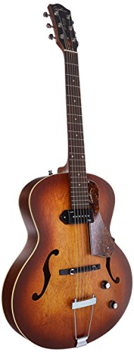 Godin 5th Avenue Kingpin P90 Jazz-Style Acoustic Electric Guitar Bundle, Cognac Burst