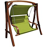 AS-S Design Hollywood wooden swinging chair larch Model: MERU-GREEN from