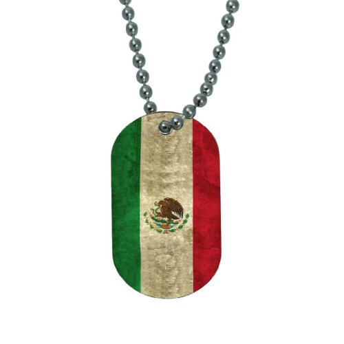Mexico Flag - Dog Tag Necklace
